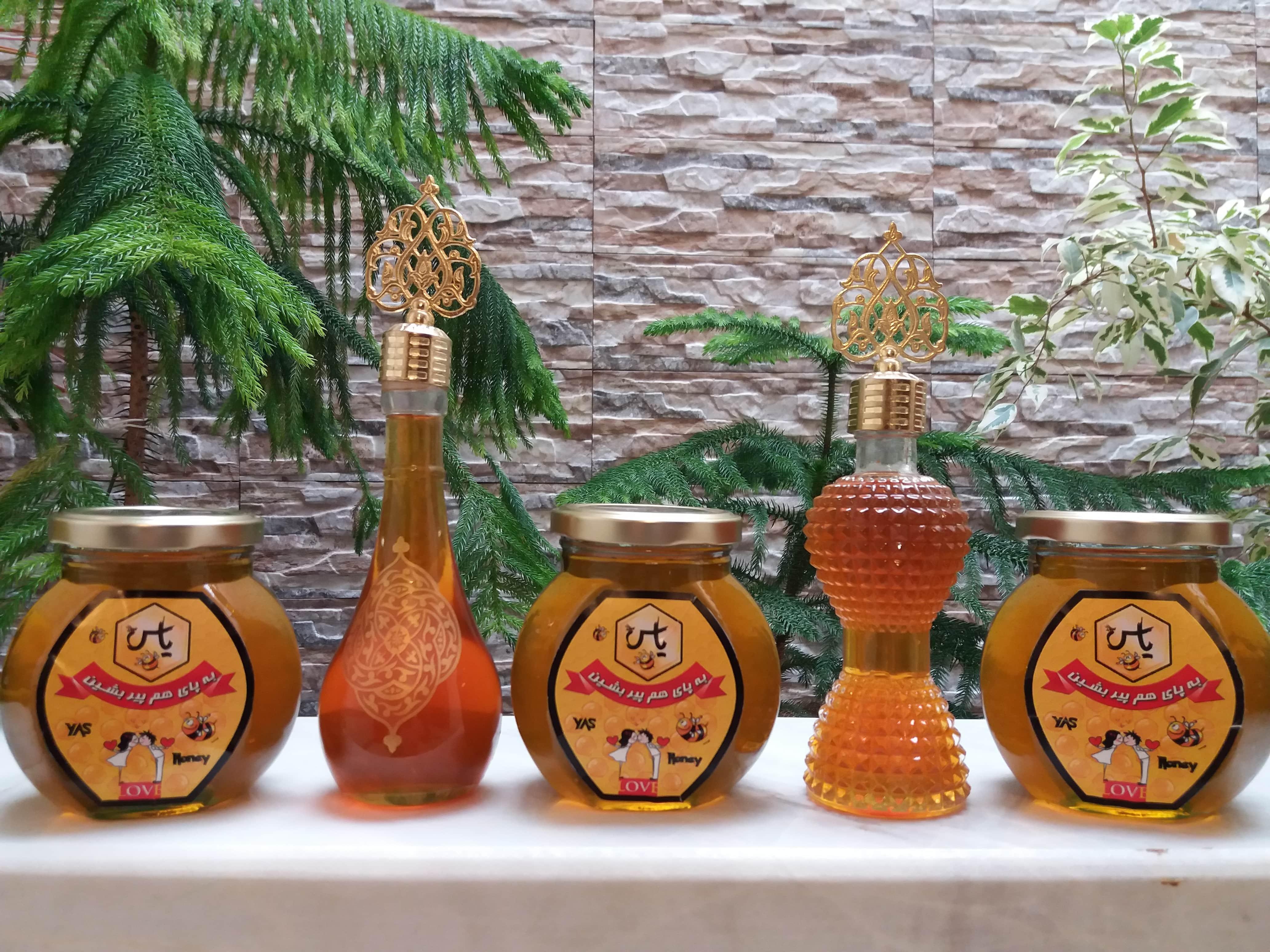 ظرف شیشه عسل